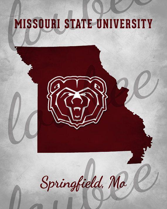 Missouri State University Print Decorative Fan by LoubeeDesigns