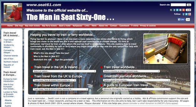 The Man in Seat 61 | 16 Useful Travel Websites You Probably Didn't Know About