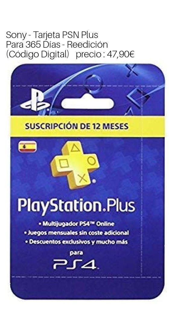 Sony Tarjeta Psn Plus Para 365 Dias Reedicion Codigo Digital