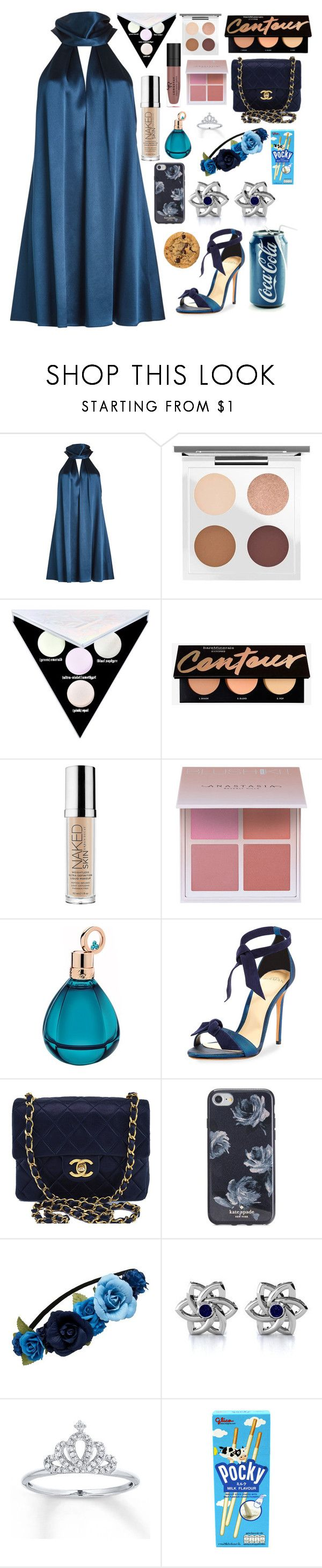"""""""Roadhouse Blues"""" by lucyheartyui ❤ liked on Polyvore featuring Galvan, MAC Cosmetics, Kat Von D, Urban Decay, Anastasia Beverly Hills, Chopard, Alexandre Birman, Chanel, Kate Spade and Forever New"""