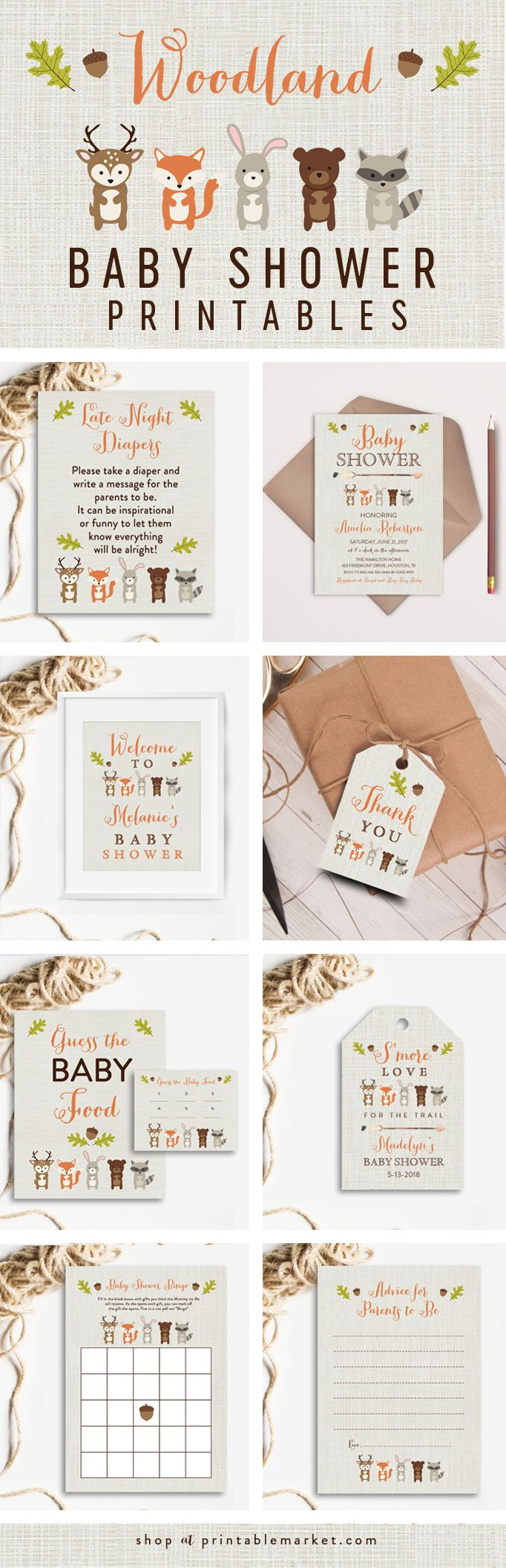 Look at all of these cute Woodland Baby Shower theme ideas!