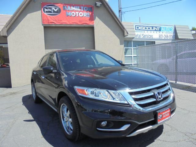 2013 HONDA CROSSTOUR EX-L - CONTACT US AT 801-901-6058 - CLEAN TITLE AND CARFAX CERTIFIED - ONE OWNER LEASE RETURN FROM HONDA FINANCIAL SERVICES - VERY CLEAN INSIDE AND OUT, NON-SMOKER - Options include: Leather heated seats, bluetooth, back up camera, power windows and doors and much more! - WE DO ACCEPT TRADE INS - FINANCING AVAILABLE - Come see us at HAMILTON MOTORS, 647 W. Main St. Lehi UT. 84043 - Dealer # 408A  Options:  ABS Brakes  Air Conditioning  Alloy Wheels  Automatic Headlights…