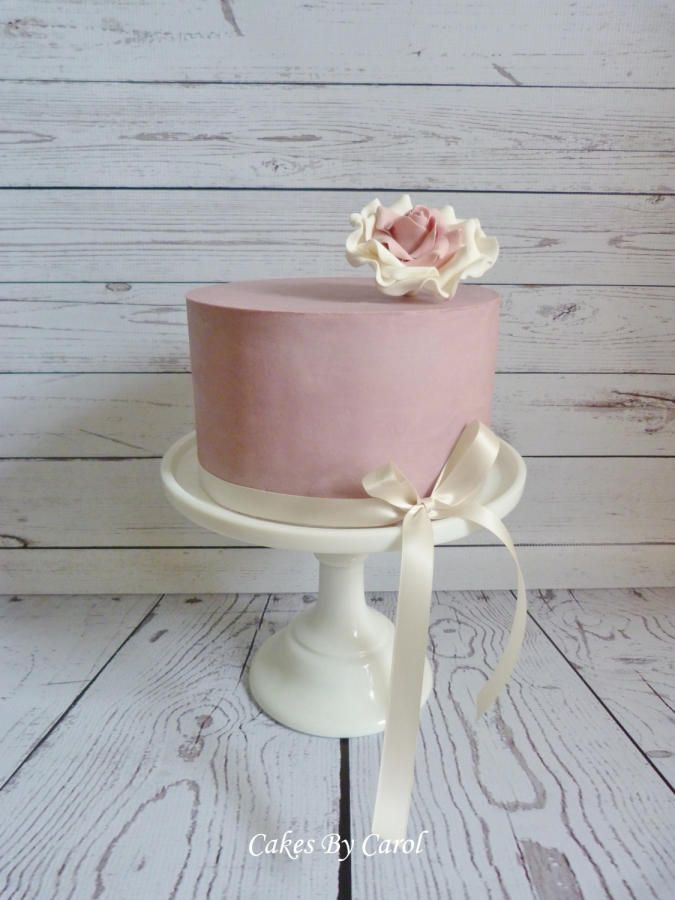 Dusky pink Ganache - Cake by Carol