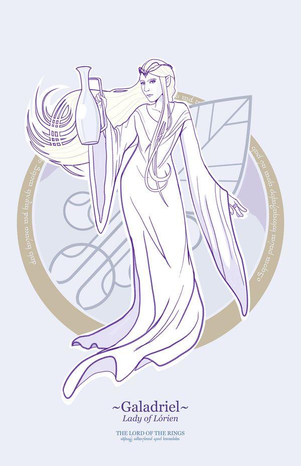 Ilustrações dos personagens de O Senhor dos Anéis