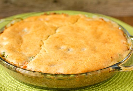Quick & Easy Chicken Pot Pie Crust - I made my own filling using chicken broth, heavy cream, onions, flour, butter.