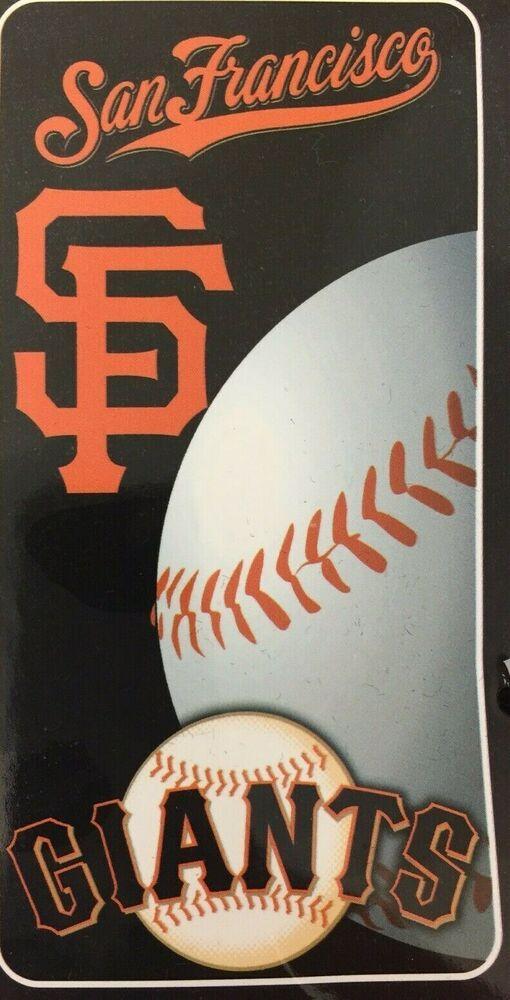 75535b4e San Francisco Giants Baseball Beach Bath Towel Official MLB ...
