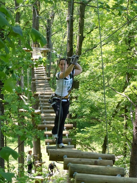Crazy ropes course! Sandy Spring Adventure Park! Near Gaithersburg and Rockville, Maryland; so not too far from DC.