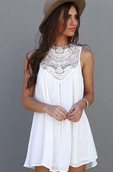 Best 25  White boho dress ideas on Pinterest | Boho dress ...