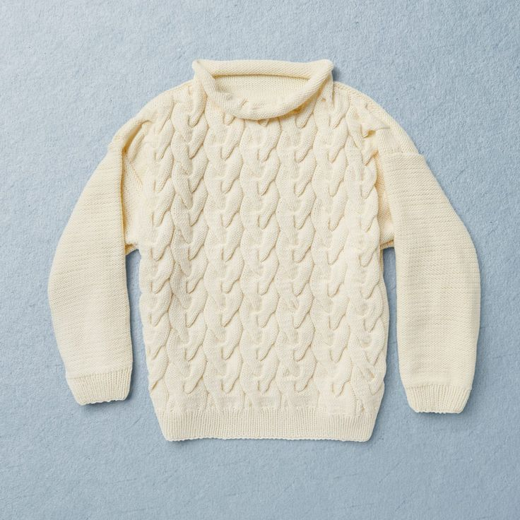 Van Beren KNIT KIT ANNA cable knit pullover, off white