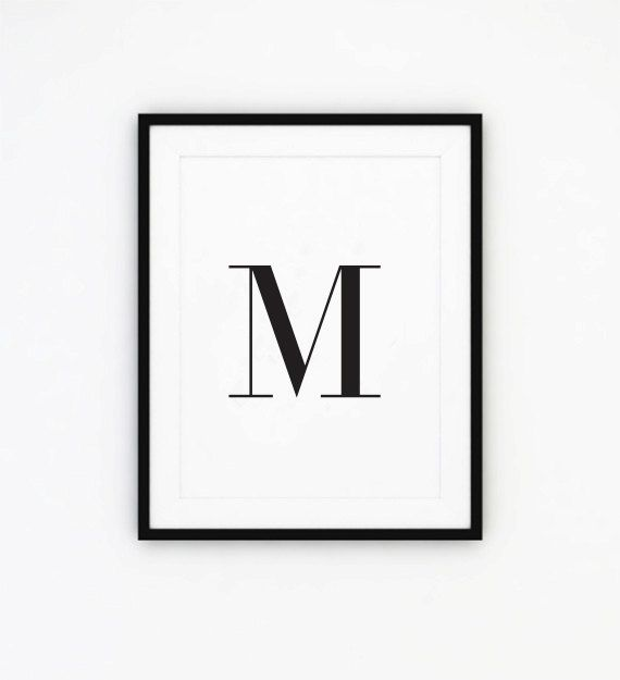 Capital M Typography Poster Capitals Word Art Wall von IshtarPrints