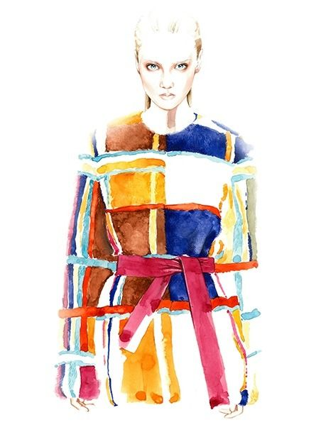 Altuzarra Fall Winter 2014/15 commissioned illustration for Vogue China
