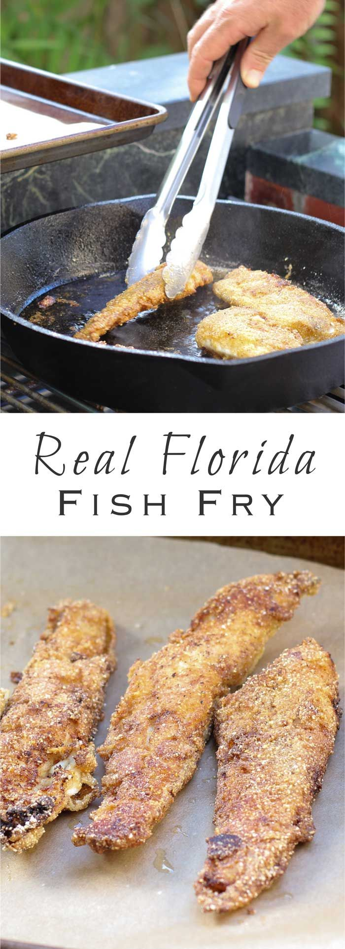Our traditional recipe for fried fish with cornmeal, perfect for redfish, trout, snook, and mullet.