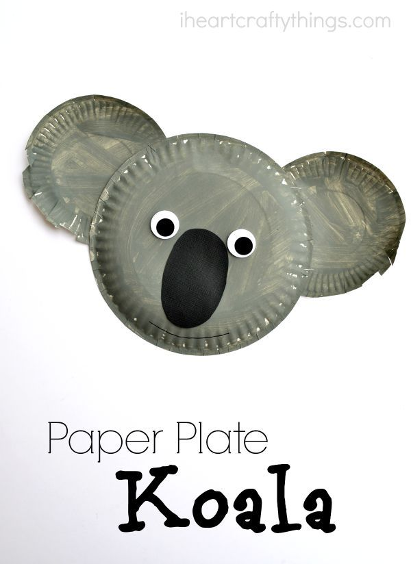 Adorable Paper Plate Koala Kids Craft. Perfect for after a visit to the zoo or as a summer kids craft.