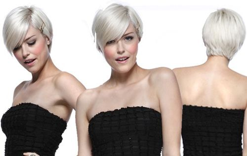 Short pixie hairstyles with bangs    One of the most chosen pixie haircuts in 2013. Details in the front side of the hair gives another beauty.