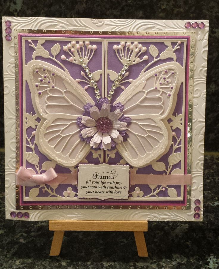 Card made using Create and craft Couture dies - Mariposa set