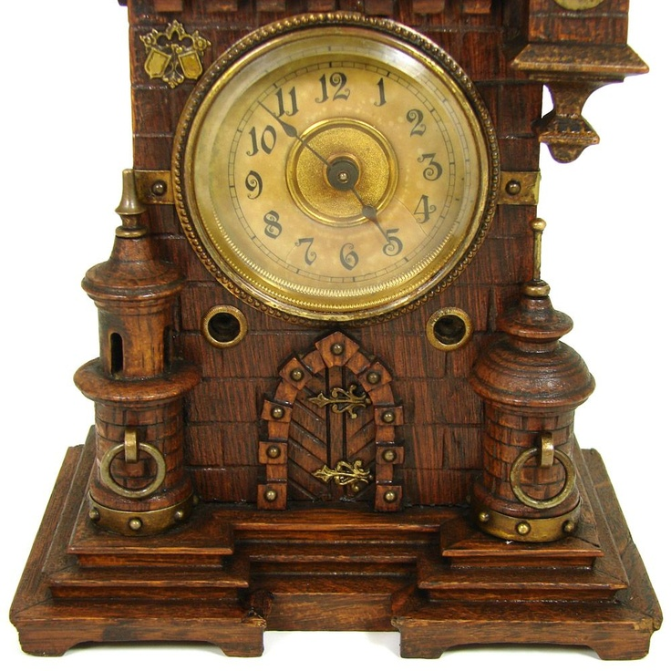 1800s Junghans Medieval Castle Clock Coolest Things