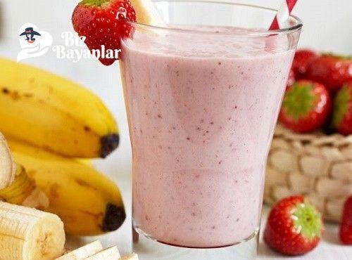 Muzlu ve Çilekli Smoothie Tarifi Bizbayanlar.com  #Çilek, #Muz, #Süt, #Vanilya, #Yogurt,#Soğukİçecekler http://bizbayanlar.com/yemek-tarifleri/icecek-tarifleri/soguk-icecekler/muzlu-cilekli-smoothie-tarifi/