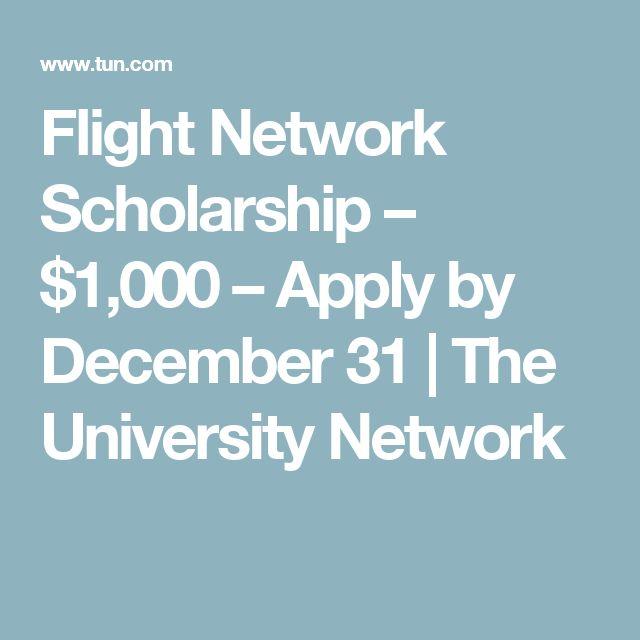 Flight Network Scholarship – $1,000 – Apply by December 31 | The University Network