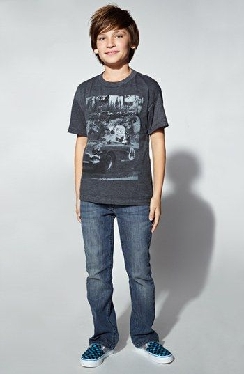 Kids fashion jeans and boys on pinterest for Jeans t shirt style