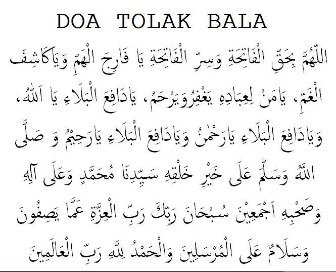 doa tolak bala lengkap arab latin dan artinya dakwah web id