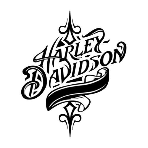 2 Harley-Davidson Art Motor Fuel Tank Novelty Label /Window/Bumper Sticker/Decal