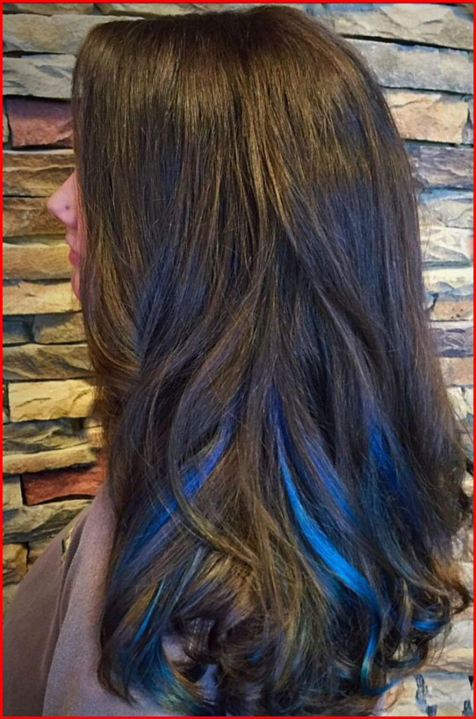 50 Blue Hair Highlights Ideas Hair Colour Style Blue Hair Highlights Blue Hair Streaks Hair Styles