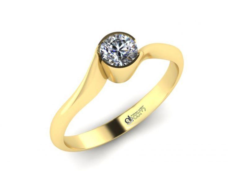 Inel de logodna ATCOM Lux cu diamant RAUL aur galben