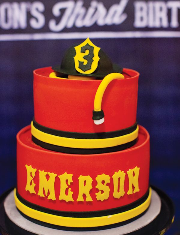 Amazing firefighter themed cake made for a kid's birthday party. Incredible colors and detail.