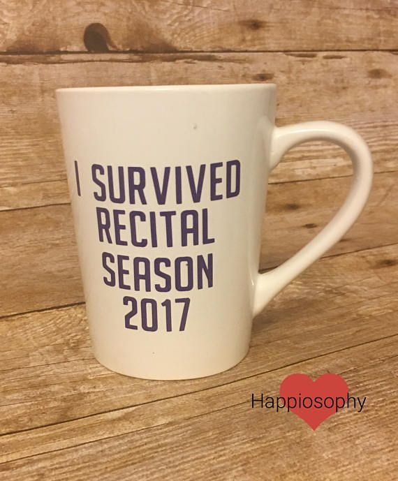 I Survived Recital Season Dance Teacher Gift Choreographer
