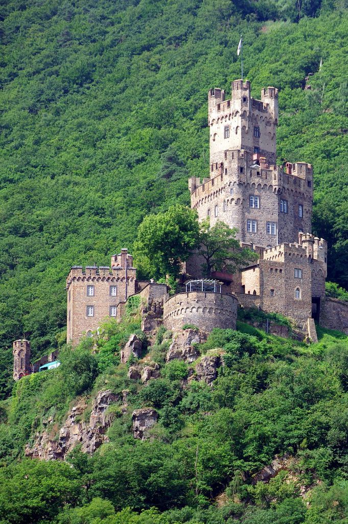 Burg Sooneck is a Medieval Castle in Germany This castle above the Rhein River is small but well preserved.