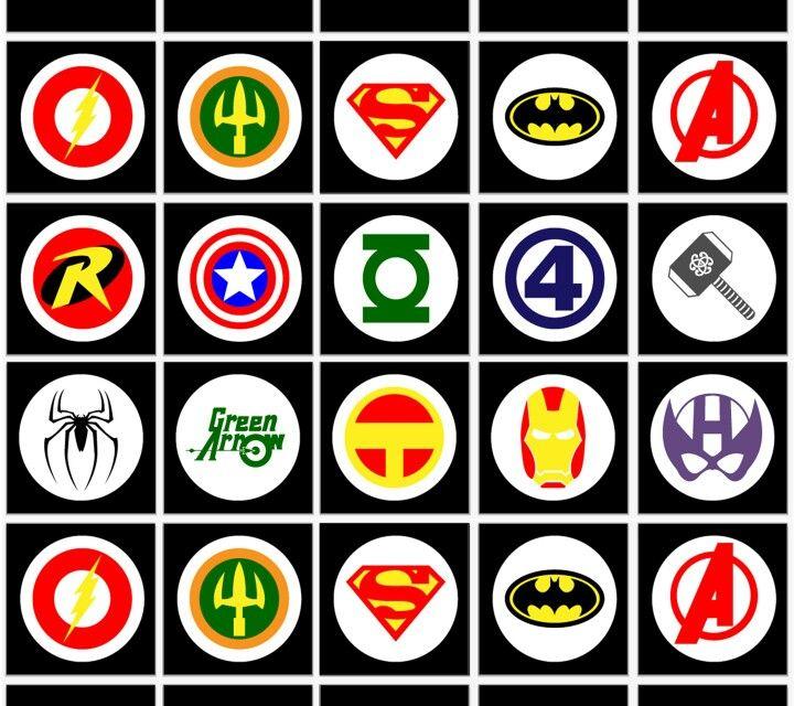 marvel superhero symbols