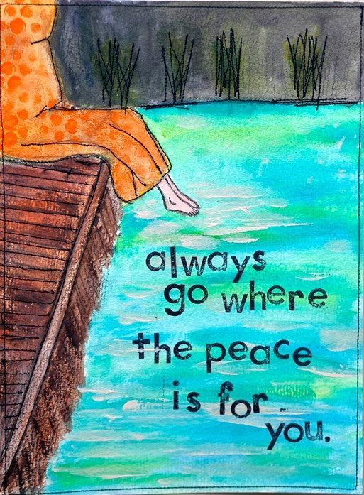 Self care is important for mental wellness...find a place where you feel peaceful and visit often!