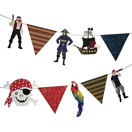 Piratenparty Girlande Kindergeburtstag