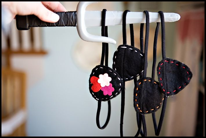 Pirate party Eye Patches.  Flowers for the girl pirates!