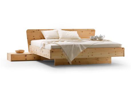 Bett Ala 180x200cm, Höhe 86 cm, Zirbe