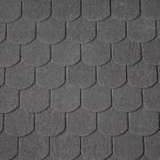Black Superglass Biber asphalt shingles, IKO roofing shingles