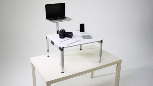 The ZestDesk is a portable desktop computer and keyboard stand