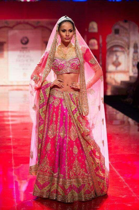 Lehenga Indian bride wear.