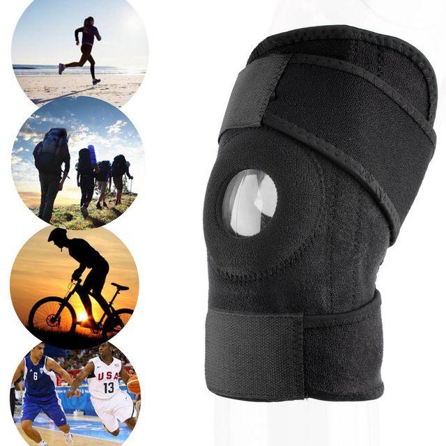 1 unid rodillera Ajustable Deportes Pata de Apoyo de Rodilla knee Brace Wrap protector Pads Manga Cap de Seguridad de Refuerzo para La Rodilla de baloncesto