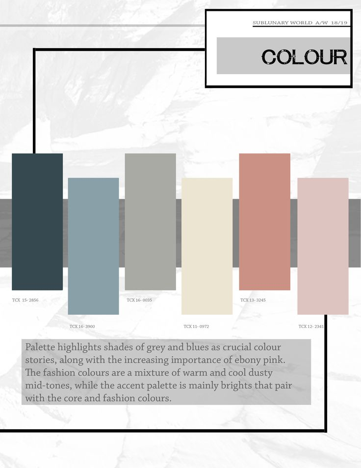 The trend book focuses of the trend forecasting for autumn - 2019 home color trends ...
