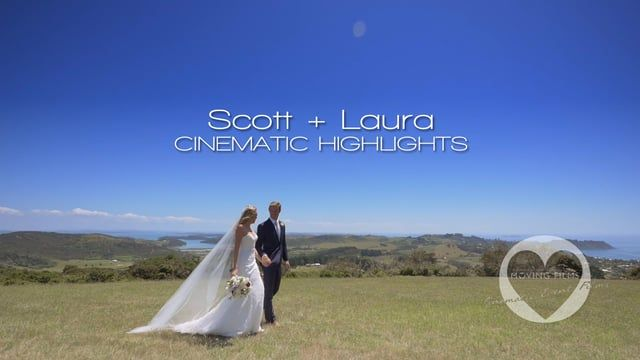 Cinematic highlights montage of Scott and Laura, married at a breath-taking ceremony and reception at Stonyridge Vineyard, Waiheke Island, New Zealand. A beautiful day for a truly beautiful couple! It was a privilege to film you both on your wedding day. For more info, see http://movingfilms.co.nz/scott-laura-wedding-highlights/