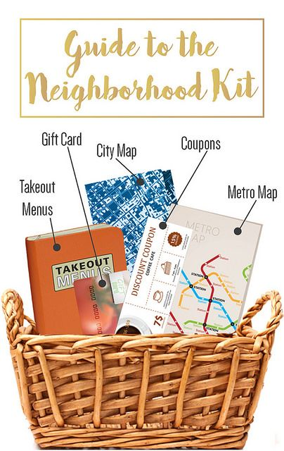 Want a unique gift for new homeowners? Think of getting them a guide to the neighborhood kit!