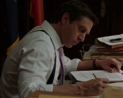 ADA Rafael Barba's outfits  That pink tie.