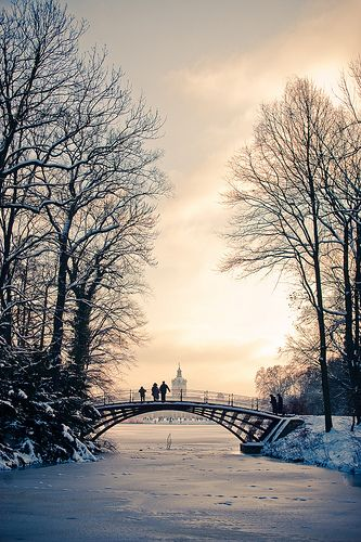 Winter bridge,Schloss Charlottenburg, Berlin