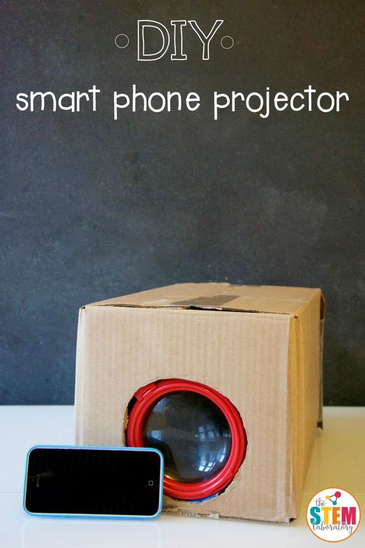 How to make a DIY smart phone projector!  We think our Playhouse Pals group would have a ton of fun making these!