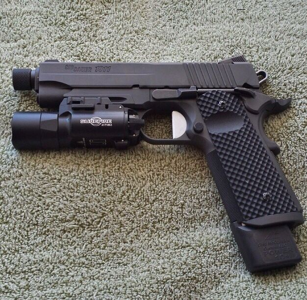 Sig 1911 TACOPS with threaded barrel and Surefire X300. The 1911 that I want.