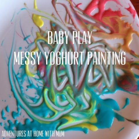 Adventures at home with Mum: Baby Safe yummy Painting With Yogurt