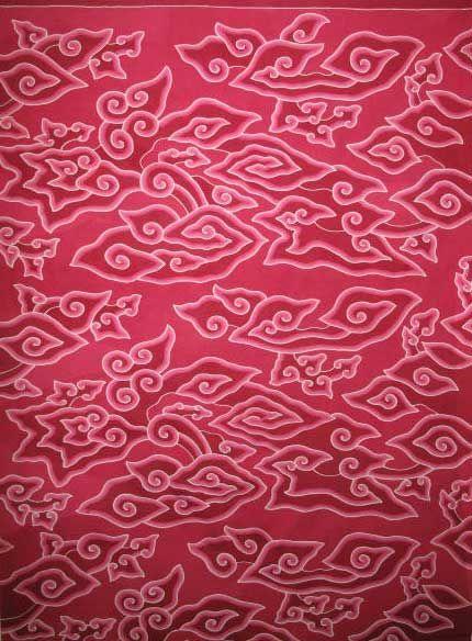Beautiful Mega Mendung batik from Cirebon in Java