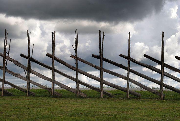 old fence on Saaremaa Island, Estonia