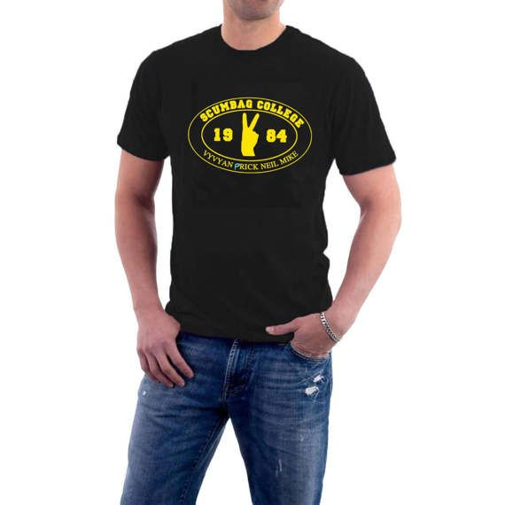 The Scumbag #College team to compete against Footlights College in the classic Young Ones #comedy sketch. Now wear their badge with pride on this great quality t-shirt. Let's... #british #funny #london #alternative #humour #college #tv #bbc